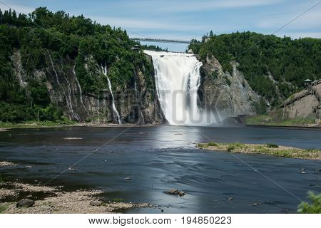 The beautiful Montmorency Falls - Quebec - Canada