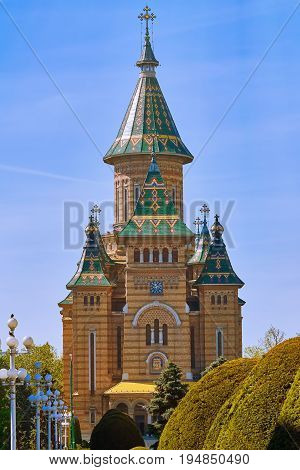 Romanian Orthodox Metropolitan Cathedral in Timisoara Romania