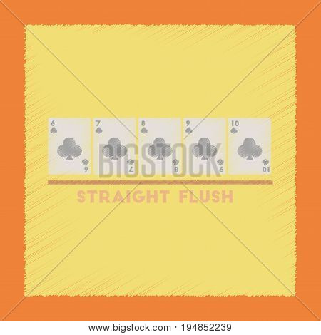 flat shading style icon poker straight flush