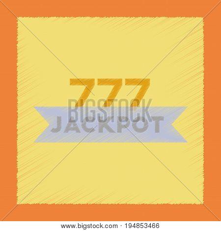 flat shading style icon poker jackpot Lucky seven