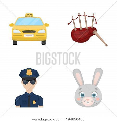 Transport, security and other  icon in cartoon style. travel, animal icons in set collection.