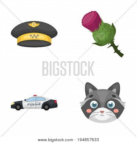 taxi, security and other  icon in cartoon style.travel, animal icons in set collection.