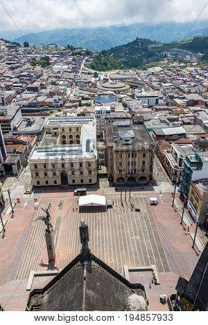 Manizales Plaza De Bolivar View