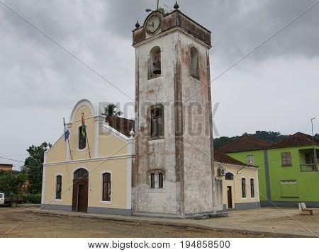 Church in Santo Antonio, Principe Island, Sao Tome and Principe,