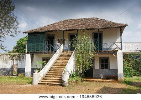 Old farmhouse on Principe island, Sao Tome and Principe, Africa