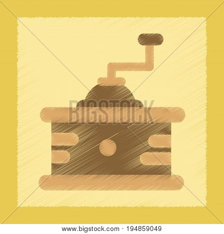 flat shading style icon coffee mill grinder