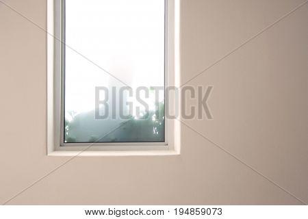 Shadow of a man in window