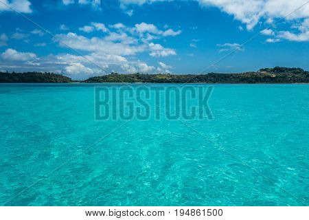 Crystal clear water in Nosy Iranja Madagascar