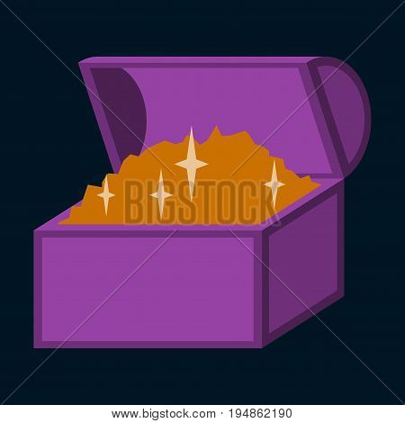 flat icon on stylish background Treasure chest