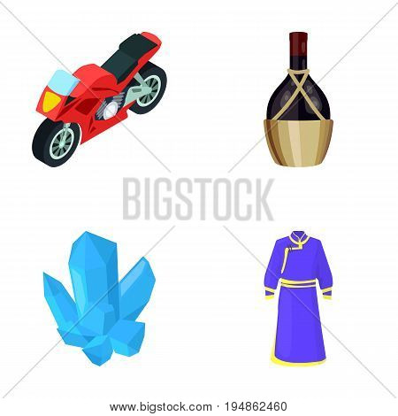 textiles, tourism, travel and other  icon in cartoon style.pattern, clothing, fashion, icons in set collection.