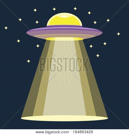 Aliens UFO using their gravity light, EPS10