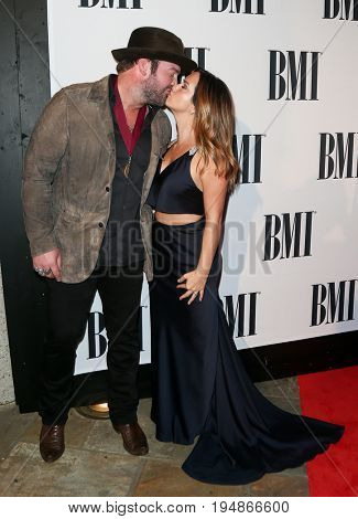 NASHVILLE, TN-NOV 3: Recording artist Lee Brice and wife Sara Brice attend the 63rd annual BMI Country awards at BMI on November 3, 2015 in Nashville, Tennessee.