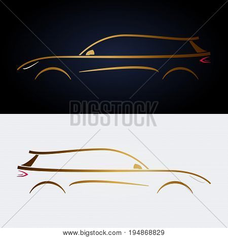 Design luxury yellow car. For your design.