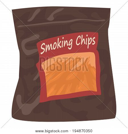 Smoking chips icon. Cartoon illustration of smoking chips vector icon for web isolated on white background