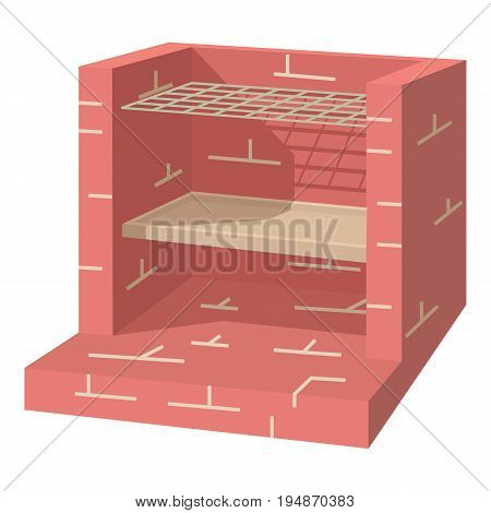 Stone barbecue icon. Cartoon illustration of stone barbecue vector icon for web isolated on white background