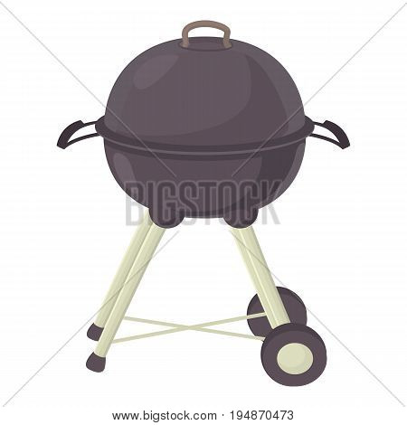 Kettle barbecue icon. Cartoon illustration of kettle barbecue vector icon for web isolated on white background