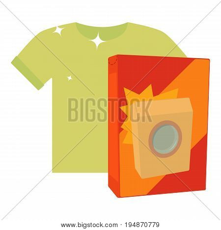 Washing powder for colored things icon. Cartoon illustration of washing powder for colored things vector icon for web isolated on white background