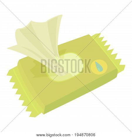 Wet wipe pack icon. Cartoon illustration of wet wipe pack vector icon for web isolated on white background