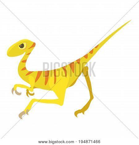 Velociraptor icon. Cartoon illustration of velociraptor vector icon for web isolated on white background