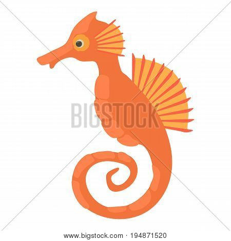 Seahorse icon. Cartoon illustration of seahorse vector icon for web isolated on white background