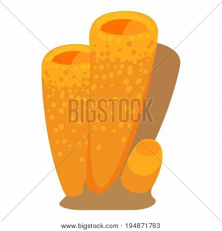 Column coral icon. Cartoon illustration of column coral vector icon for web isolated on white background