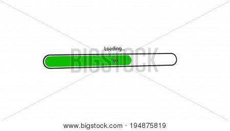 modern green loading bar on white background.