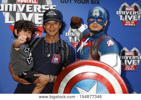 LOS ANGELES - JUL 8:  Will Yun Lee, Son, Captain America_ at the Marvel Universe Live Red Carpet at the Staples Center on July 8, 2017 in Los Angeles, CA