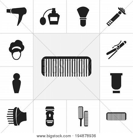 Set Of 12 Editable Coiffeur Icons. Includes Symbols Such As Hairdo, Foam, Blow Dryer And More. Can Be Used For Web, Mobile, UI And Infographic Design.