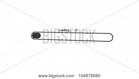 modern loading black bar on white background.