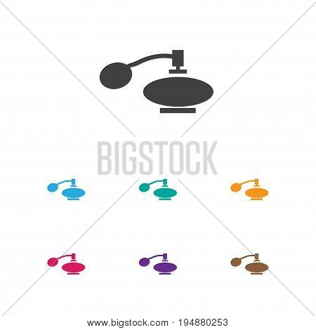 Vector Illustration Of Tonsorial Artist Symbol On Vial Icon. Premium Quality Isolated Fragrance Element In Trendy Flat Style.