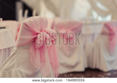 Decoration Of Chairs At The Wedding
