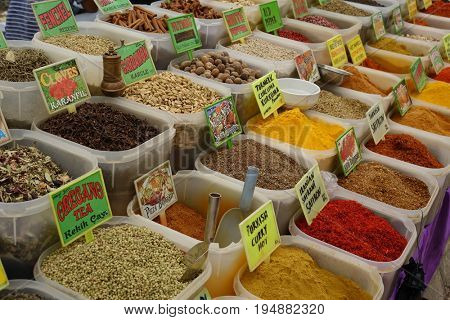 Turkish spices