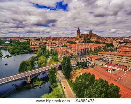 Salamanca, Spain: The old town and the New Cathedral, Catedral Nueva in spring