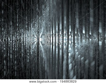 An imaginary visualization of computer data bandwidth.