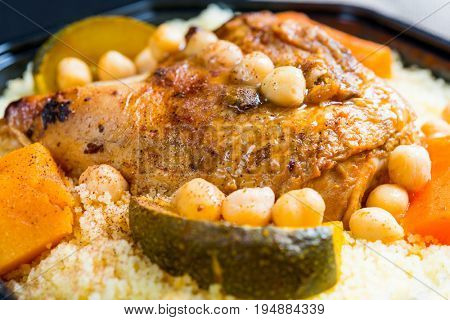 traditional moroccan dish couscous salad