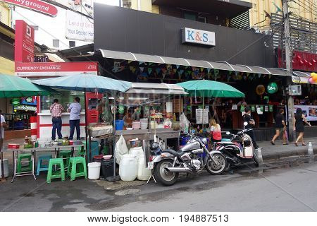 Food Stall On The Street In Bangkok