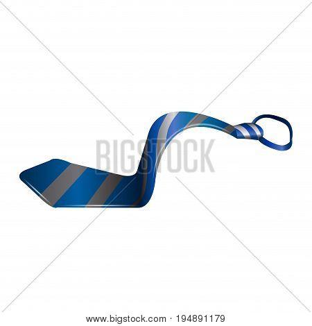 Isolated Blue Necktie