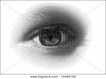 A vector halftone, based on my photo.