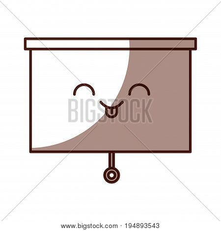 Window blind kawaii character vector illustration design