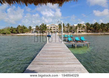 Summer in San Pedro Island in Belize