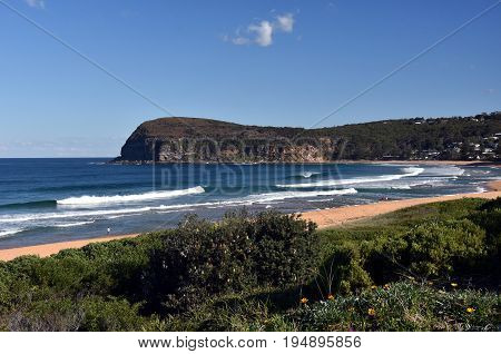 Copacabana Beach on a sunny day in winter time (Central Coast NSW Australia)
