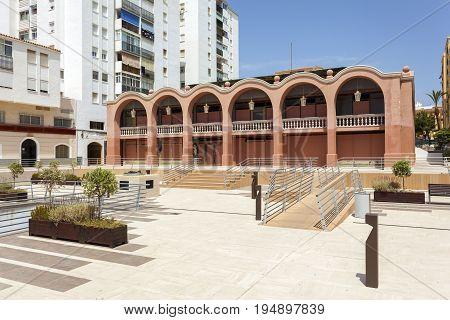 Market square in the city of San Pedro de Alcantara. Malaga Province Andalusia Spain