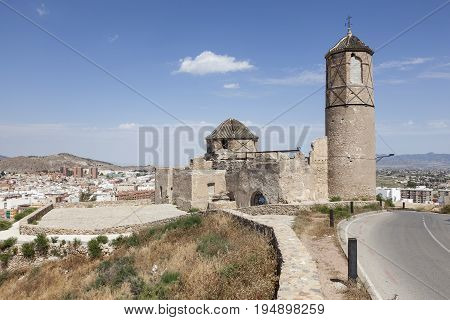 Old abandoned church in the city of Lorca. Province of Murcia Spain