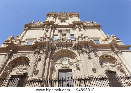 Ancient cathedral Colegiate de San Patricio in the historic city of Lorca. Province of Murcia Spain