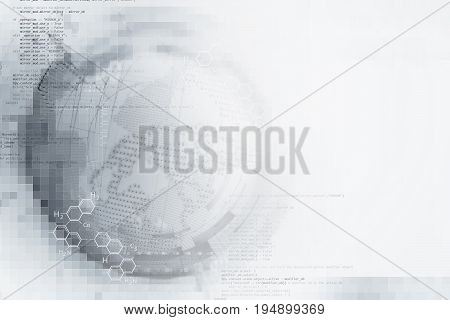 Abstract White Digital Technology Background