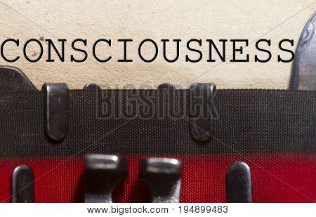 Consciousness;