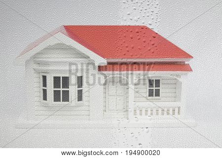 New Zealand NZ villa house model with window condensation - damp leaky home concept