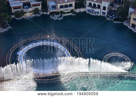 Las Vegas, Nevada - Usa - June 05,2017 - Inspired Water Show Debuts At Bellagio Fountains