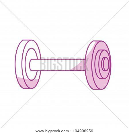 silhouette dumbbell fitness tool to do exercise and training vector illustration