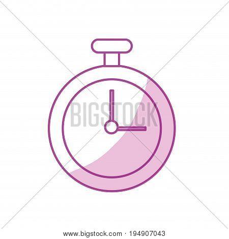 silhouette chronometer element to training sport vector illustration